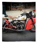 Indian Chief Motorcycle Rare Fleece Blanket
