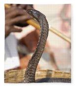 Indian Cobra Fleece Blanket