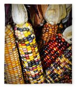Indian Corn 2 Fleece Blanket