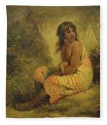 Indian Girl Fleece Blanket