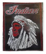 Indian Motorcycles Fleece Blanket