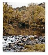 Indian Summer At Brandywine Creek Fleece Blanket