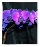 Indigo Mystique Orchids  Fleece Blanket