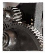 Industrial Gears Whith Oil Drops Fleece Blanket