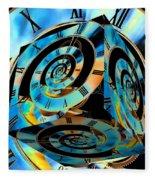 Infinity Time Cube Fleece Blanket