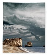 Infrared Aphrodite Rock Fleece Blanket