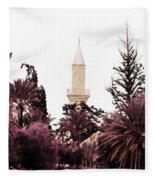 infrared Hala Sultan Tekke Fleece Blanket