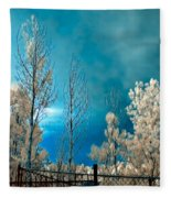 Infrared Summer Storm Fleece Blanket