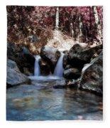 Infrared Waterfall Fleece Blanket