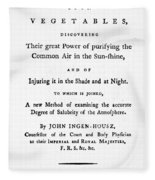 Ingenhousz Title-page, 1779 Fleece Blanket