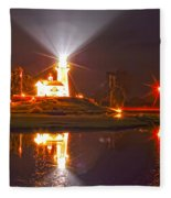 Inland Lighthouse In Indiana Fleece Blanket