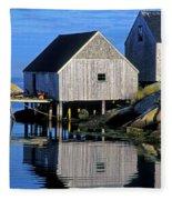 Inlet At Peggys Cove Nova Scotia Fleece Blanket