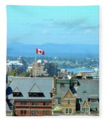 Inner Harbour As Seen  Via Marriot Window Fleece Blanket