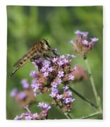 Insect And Flower Fleece Blanket