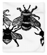 Insects: Bees Fleece Blanket