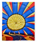 Inside A Hot Air Balloon Fleece Blanket