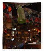 Inside The Bar In Luckenbach Tx Fleece Blanket