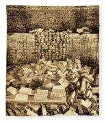 Inside The Historical Brick Kiln Decatur Alabama Usa Fleece Blanket