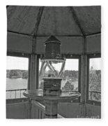 Inside The Lighthouse Tower. Uostadvaris. Lithuania. Fleece Blanket