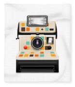 Instant Camera Fleece Blanket