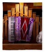 Instrument - Accordian - The Accordian Organ  Fleece Blanket