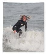 Intense Surfer Fleece Blanket