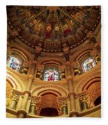 Interiors Of A Cathedral, St. Finbarrs Fleece Blanket