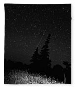 Into The Night Monochrome Fleece Blanket