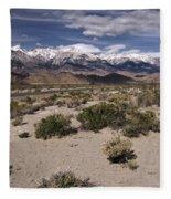 Into The Sierras Fleece Blanket
