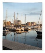 Ipswich Marina Sunset Fleece Blanket