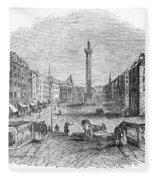 Ireland: Dublin, 1843 Fleece Blanket
