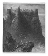 Ireland: Dunluce Castle Fleece Blanket