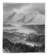 Ireland: Garromin Lake Fleece Blanket