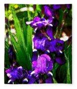 Iris 21 Fleece Blanket