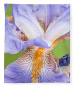 Iris Full Bloom Fleece Blanket