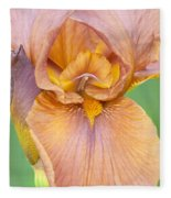 Iris In Gold  Fleece Blanket