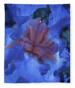 Iris Oil Painting Fleece Blanket