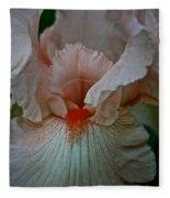 Iris Orange Beard Fleece Blanket