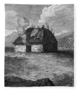 Irish Cabin, 18th Century Fleece Blanket