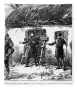 Irish Land League, 1887 Fleece Blanket