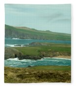 Irish Sea Coast 3 Fleece Blanket