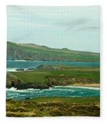 Irish Sea Coast 4 Fleece Blanket