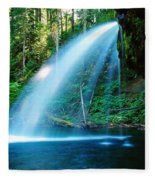 Iron Creek Falls From The Side  Fleece Blanket