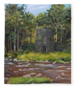 Iron Furnace Of Franconia New Hampshire Fleece Blanket