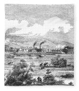Iron Works, 1855 Fleece Blanket