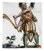 Iroquois Warrior Fleece Blanket
