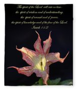 Isaiah 11 2 Fleece Blanket