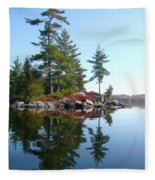 Isle - Natural Reflection Fleece Blanket