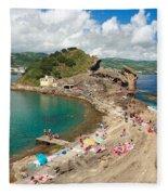 Islet In The Azores Fleece Blanket
