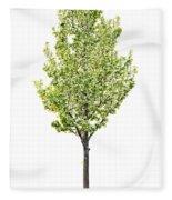 Isolated Flowering Pear Tree Fleece Blanket